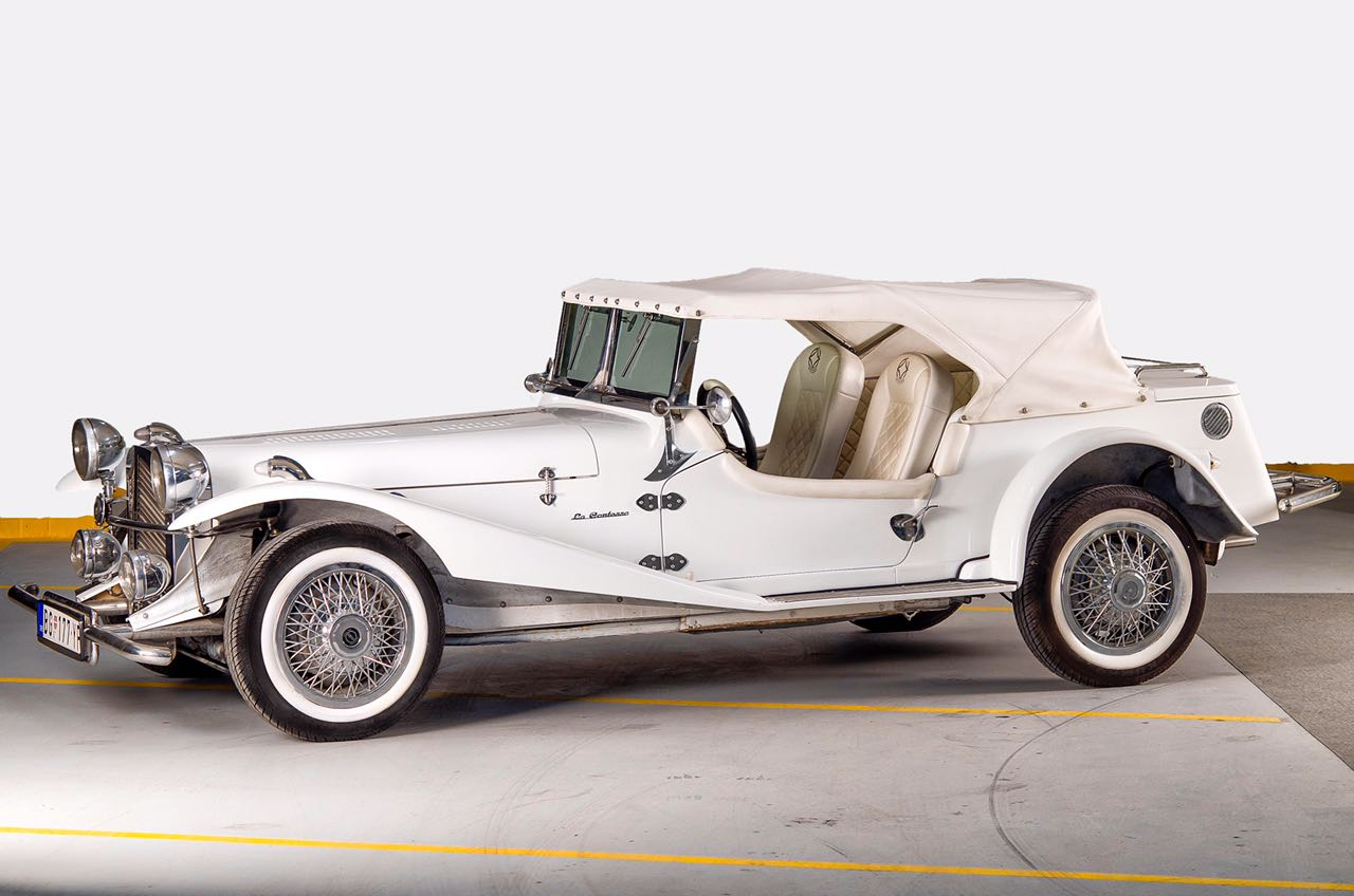 Jaguar SS 100 White